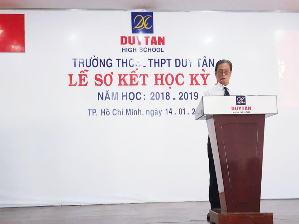 Lễ sơ kết học kỳ I năm học 2018-2019 Trường THCS, THPT Duy Tân